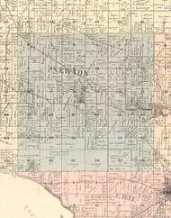 Newton, Illinois 1896 Old Town Map Custom Print - Whiteside Co.