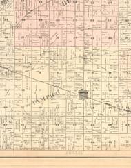 Tampico, Illinois 1896 Old Town Map Custom Print - Whiteside Co.