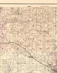Ustick, Illinois 1896 Old Town Map Custom Print - Whiteside Co.