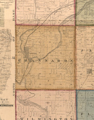 Channahon  , Illinois 1862 Old Town Map Custom Print - Will Co.