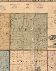 Dupage, Illinois 1862 Old Town Map Custom Print - Will Co.