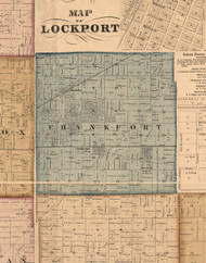 Frankfort , Illinois 1862 Old Town Map Custom Print - Will Co.
