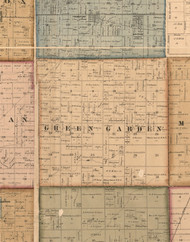 Green Garden, Illinois 1862 Old Town Map Custom Print - Will Co.