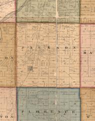 Jackson, Illinois 1862 Old Town Map Custom Print - Will Co.