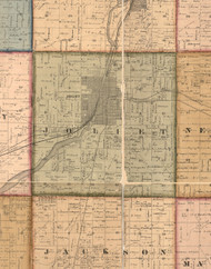 Joliet     , Illinois 1862 Old Town Map Custom Print - Will Co.