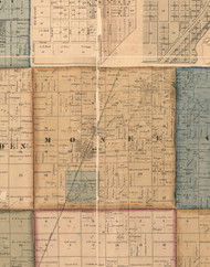 Monee, Illinois 1862 Old Town Map Custom Print - Will Co.