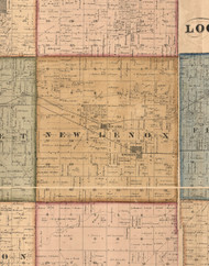 New Lenox, Illinois 1862 Old Town Map Custom Print - Will Co.