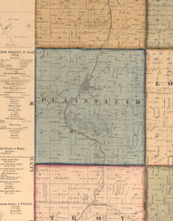 Plainfield, Illinois 1862 Old Town Map Custom Print - Will Co.