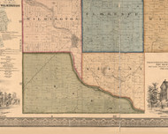 Reed, Illinois 1862 Old Town Map Custom Print - Will Co.