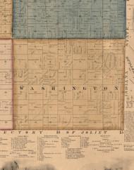 Washington, Illinois 1862 Old Town Map Custom Print - Will Co.