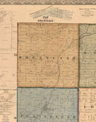 Wheatland, Illinois 1862 Old Town Map Custom Print - Will Co.