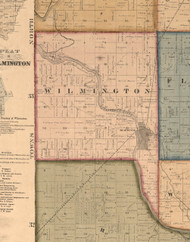 Wilmington, Illinois 1862 Old Town Map Custom Print - Will Co.