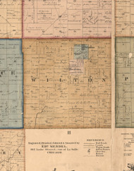 Wilton, Illinois 1862 Old Town Map Custom Print - Will Co.