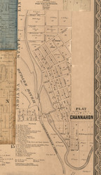 Channahon Village - Will Co., Illinois 1862 Old Town Map Custom Print - Will Co.