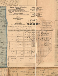 Frankfort Village - Will Co., Illinois 1862 Old Town Map Custom Print - Will Co.