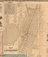 Lockport Village - Will Co., Illinois 1862 Old Town Map Custom Print - Will Co.