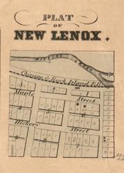 New Lenox Village - Will Co., Illinois 1862 Old Town Map Custom Print - Will Co.