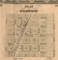 Peotone Village - Will Co., Illinois 1862 Old Town Map Custom Print - Will Co.