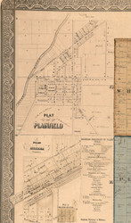 Plainfield Village - Will Co., Illinois 1862 Old Town Map Custom Print - Will Co.