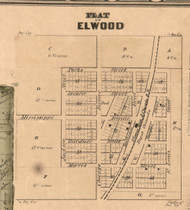 Elwood Village - Will Co., Illinois 1862 Old Town Map Custom Print - Will Co.