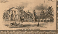 Charles Boyer Esq Residence Lockport - Will Co., Illinois 1862 Old Town Map Custom Print - Will Co.