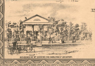 William Gooding Esq Residence Lockport - Will Co., Illinois 1862 Old Town Map Custom Print - Will Co.