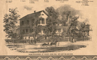 Henry Akin Esq Residence - Will Co., Illinois 1862 Old Town Map Custom Print - Will Co.