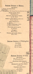 Mokena Wallingford Crete Directory - Will Co., Illinois 1862 Old Town Map Custom Print - Will Co.