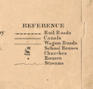 References - Will Co., Illinois 1862 Old Town Map Custom Print - Will Co.