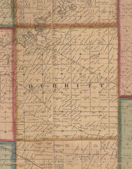Burritt, Illinois 1859 Old Town Map Custom Print - Winnebago Co.