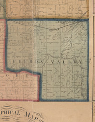 Cherry Valley, Illinois 1859 Old Town Map Custom Print - Winnebago Co.