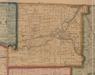 Rockton, Illinois 1859 Old Town Map Custom Print - Winnebago Co.