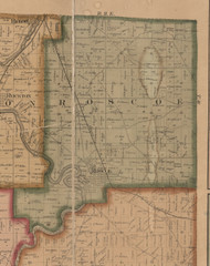 Roscoe, Illinois 1859 Old Town Map Custom Print - Winnebago Co.