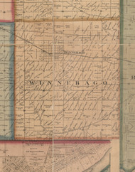 Winnebago, Illinois 1859 Old Town Map Custom Print - Winnebago Co.