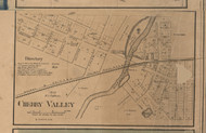 Cherry Valley Village, Illinois 1859 Old Town Map Custom Print - Winnebago Co.