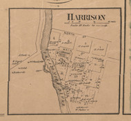 Harrison Village, Illinois 1859 Old Town Map Custom Print - Winnebago Co.