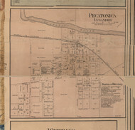 Pecatonica Village, Illinois 1859 Old Town Map Custom Print - Winnebago Co.