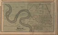 Roscoe Village, Illinois 1859 Old Town Map Custom Print - Winnebago Co.