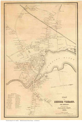 Exeter Village 1845 Merrill - Old Map Reprint - New Hampshire Towns Other