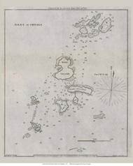 Isles of Shoals 1837  - Old Map Reprint - New Hampshire Towns Other