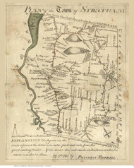 Stratham 1793 Merrill - Old Map Reprint - New Hampshire Towns Other