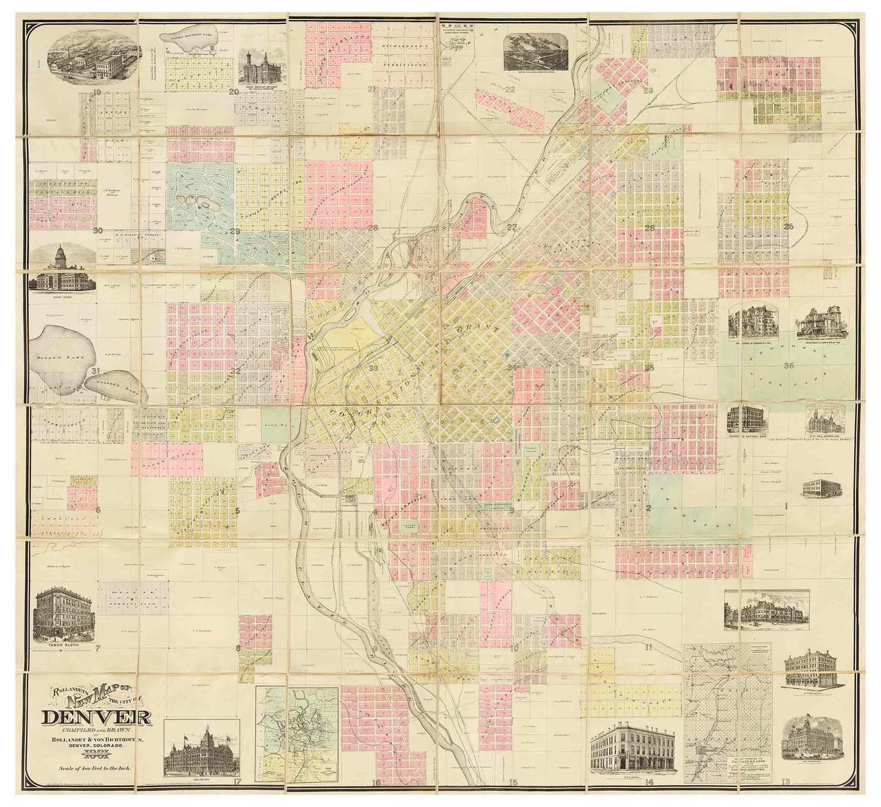 Denver 1881 Rollandet - Old Map Reprint - Colorado Cities on denver neighborhood map, denver city limits map, denver city map online, denver surrounding cities, denver metro area city maps, denver city council map, denver colorado usa map, denver on the map, denver co, university of colorado denver anschutz campus map, denver city park map, denver city map with locations, denver united states map, denver metro map with city boundaries, denver airport map, denver las vegas map, denver castle rock map, denver i-70 colorado exits map, cherry creek denver colorado map, old denver colorado map,