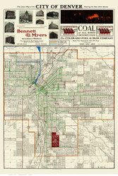 Denver 1904 Beeler - Old Map Reprint - Colorado Cities