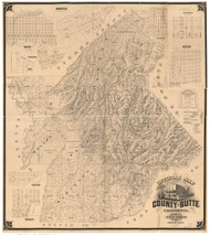Butte County California 1877 - Old Map Reprint