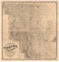 Colusa County California 1885 - Old Map Reprint