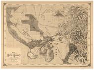 Kern County California 1888 - Old Map Reprint