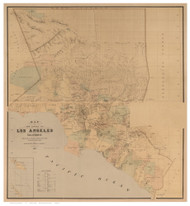 Los Angeles County California 1877 - Old Map Reprint