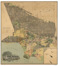 Los Angeles County California 1898 - Old Map Reprint