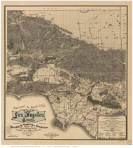 Los Angeles County California 1900 - Old Map Reprint