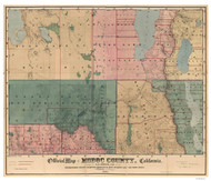Modoc County California 1887 - Old Map Reprint
